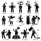 Positive Personalities Character Traits Clipart. Positive personalities traits, attitude, and characteristic. Starting with alphabet I Stock Photography