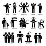 Positive Personalities Character Traits Clipart Stock Photos