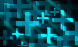 Positive plus 3D glowing background. For design use Stock Photography