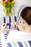 Positive pregnancy test royalty free stock photo