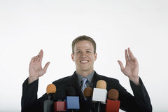 Positive public speaking stock photo