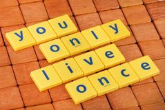 Positive quote Royalty Free Stock Photography
