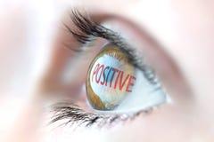 Positive Reflexion im Auge lizenzfreie stockfotos