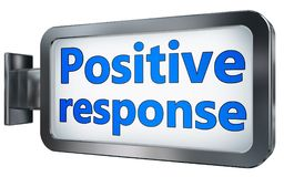 Positive relationship on billboard. Positive relationship wall light box billboard background , isolated on white Stock Image