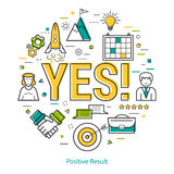 Positive result - LineArt Royalty Free Stock Photography