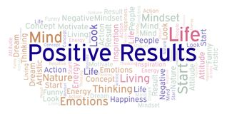 Positive Results word cloud, made with text only royalty free illustration