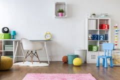 Positive room for kids. Positive minimalist and colorful room for kids and teenagers Stock Images