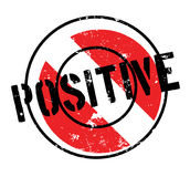 Positive rubber stamp Royalty Free Stock Images
