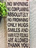 Positive rules print on wood wall.  Stock Images