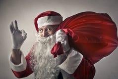 Positive Santa Claus royalty free stock image