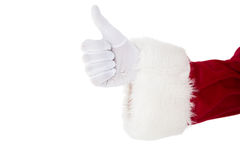 Positive santa claus with thumbs up Royalty Free Stock Images