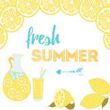 Positive sayings. Fresh summer. Motivational quote. Stock Photo