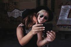 Positive selfie Stock Photos