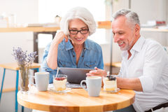 Positive senior couple resting together Stock Photography