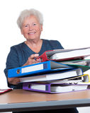 Positive senior woman in the office Royalty Free Stock Photo