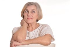 Positive senior woman Stock Photography