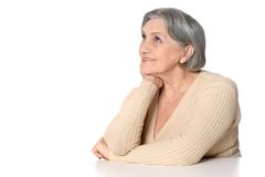 Positive senior woman Stock Photo