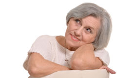 Positive senior woman Royalty Free Stock Photography