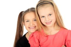 Positive sisters Royalty Free Stock Photos