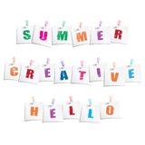 Positive slogans on paper note with push pin. Vector eps10 illustration Royalty Free Stock Image