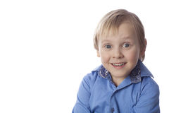 Small boy with funny face Royalty Free Stock Photo