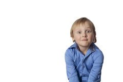 Small boy with funny face Royalty Free Stock Images