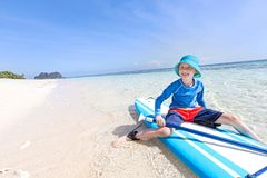 Kid at vacation Stock Images