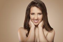 Positive smiling girl Stock Photo