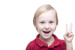 Positive smiling small boy Stock Photography