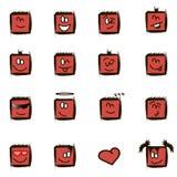Positive square smilies Stock Photo