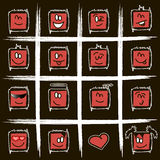 Positive square smilies Royalty Free Stock Photo