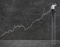 Positive statistische Tendenz Lizenzfreies Stockbild