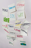 Positive sticky notes Stock Image