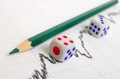 Positive stock market trend. Stock Photos