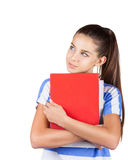 Positive student girl Stock Photo