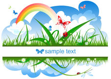 Positive summer banner Royalty Free Stock Photography