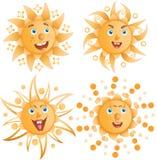 The positive sun smiles Stock Image
