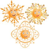The positive sun smiles Royalty Free Stock Images