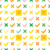 Positive Symbole Nahtloses Muster Lizenzfreies Stockfoto