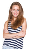 Positive teen girl smiling Stock Image