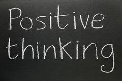 Positive thinking. Stock Photography