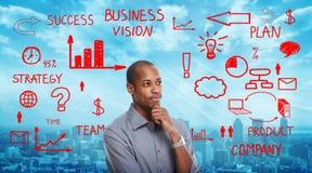 Positive thinking black man Royalty Free Stock Photo