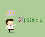 Positive thinking.Business concept cartoon illustration. Stock Photo