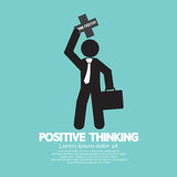 Positive Thinking Businessman. Royalty Free Stock Photos