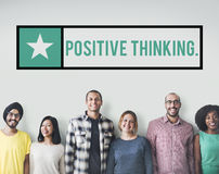 Positive Thinking Choice Attitude Inspire Focus Concept. Positive Thinking Choice Attitude Inspire Focus stock images