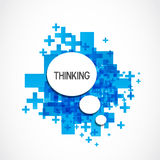 Positive thinking cloud Royalty Free Stock Image