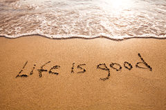 Positive thinking concept. Life is good Stock Photography