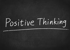 Positive thinking. Concept text on blackboard background Royalty Free Stock Photography