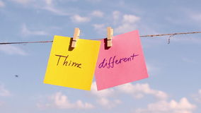 Positive thinking concept. Think Different stock video footage