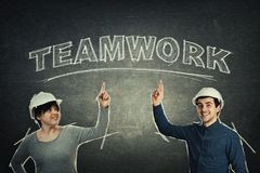 Engineers teamwork concept royalty free stock photos